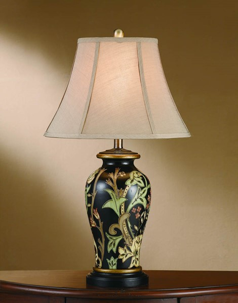 2 Crestview Collection Windham Black Gold Table Lamps CRST-CVAP1357