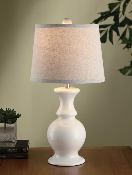 Crestview Collection Off White Oatmeal Table Lamp CRST-CVAP1479C