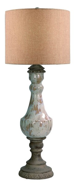 2 Crestview Collection Adeline French Toast Table Lamps CRST-CVAP1544