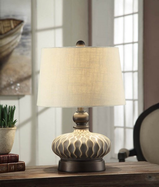 Crestview Collection Providence Natural Grey Table Lamp CRST-CVAP1703