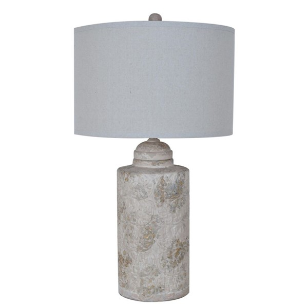 Crestview Collection Camden Canister Natural Table Lamp CRST-CVAP1718