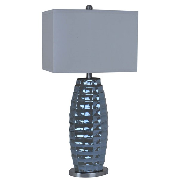 Crestview Collection Tivoli Charcoal Grey Table Lamp CRST-CVAP1729