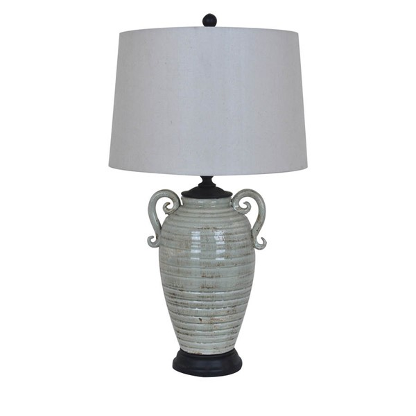 Crestview Collection Santa Cruz Natural Grey Table Lamp CRST-CVAP1747