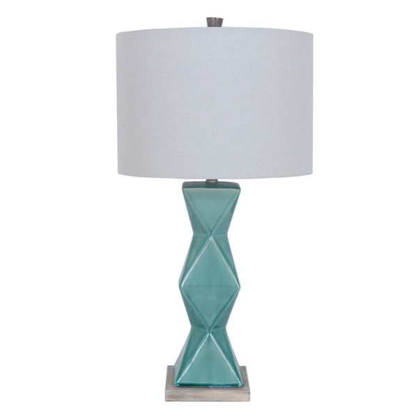 Crestview Collection Tristine White Green Table Lamp CRST-CVAP1802