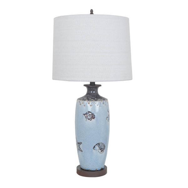 2 Crestview Collection Coastal Blue Brown Cream Marine Table Lamps CRST-CVAP1807