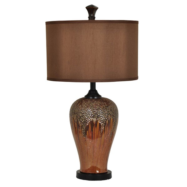Crestview Collection Hera Chocolate Table Lamp CRST-CVAP1847