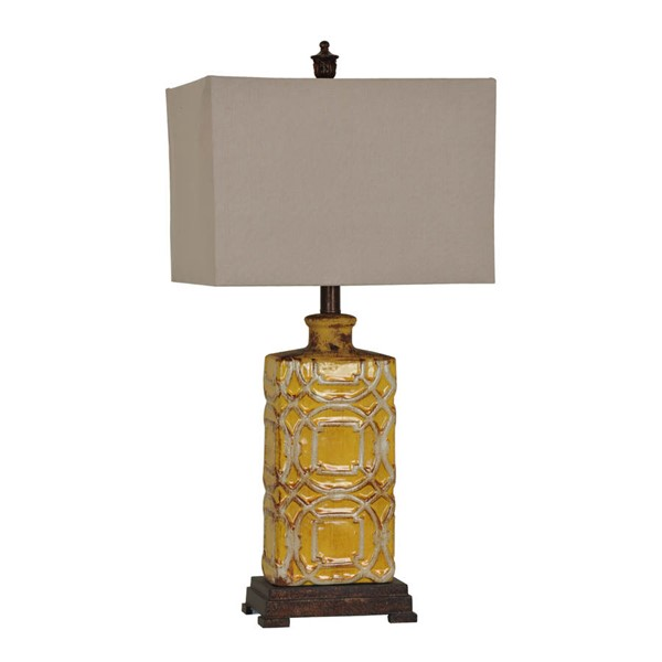 Crestview Collection Chatham Antique Yellow Table Lamp CRST-CVAP1853