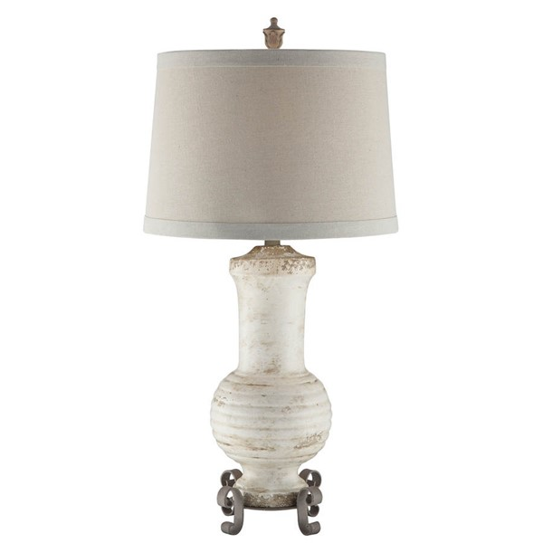 Crestview Collection Andrea Natural Cream Table Lamp CRST-CVAP1871
