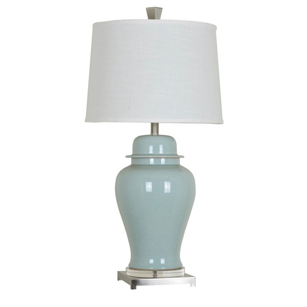 Crestview Collection Nico White Blue Table Lamp CRST-CVAP1877