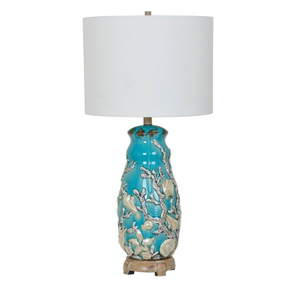 Crestview Collection White Reef Table Lamp CRST-CVAP1916