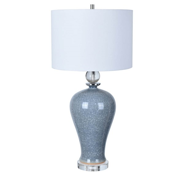 Crestview Collection Ambient Blue White Table Lamp CRST-CVAP2014