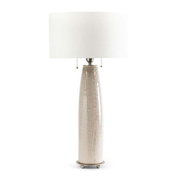 2 Crestview Collection Barclay Cream White Table Lamps CRST-CVAP2050
