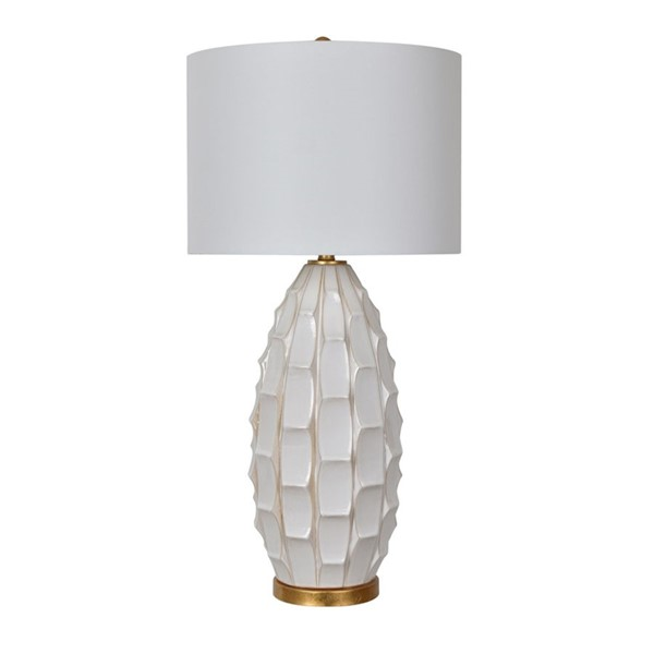 Crestview Collection Cambridge Gold White Washed Table Lamp CRST-CVAP2051
