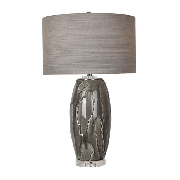 Crestview Collection Pompe Grey Table Lamp CRST-CVAP2052