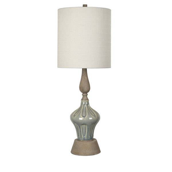 Crestview Collection Marbella Blue Table Lamp CRST-CVAP2376