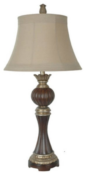 Crestview Collection Bailey Antique Taupe Table Lamp CRST-CVAQP640