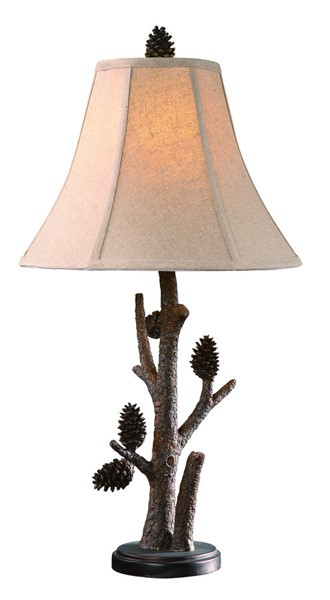 Crestview Collection Pioneer Pinecone Table Lamp CRST-CVAQP966