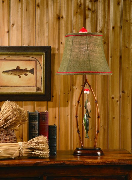 Crestview Collection Bamboo Red Table Lamp CRST-CVARP777