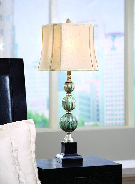 Crestview Collection Savoy Blue Beige Table Lamp CRST-CVARP819