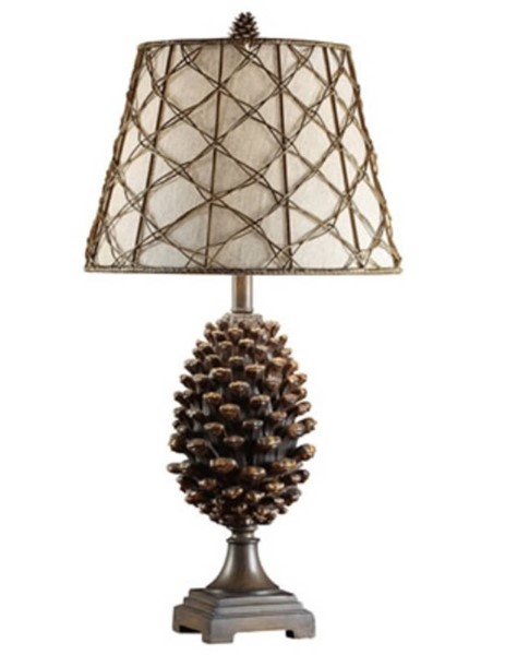 2 Crestview Collection Pine Natural Oatmeal Bluff Table Lamps CRST-CVASP083