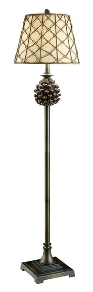 Crestview Collection Pine Natural Oatmeal Bluff Floor Lamp CRST-CVASP084