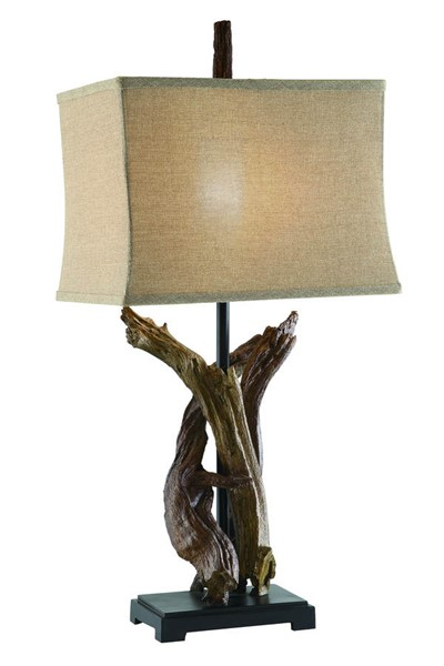 Crestview Collection Burlap Natural Twisted Drift Lamp CRST-CVASP487