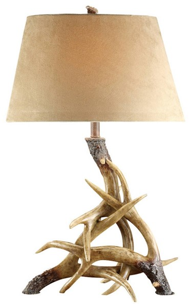 Crestview Collection White Oatmeal Table Lamp CRST-CVATP533