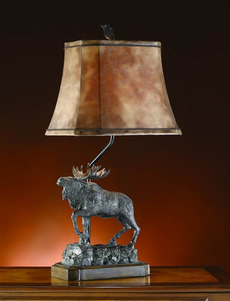 Crestview Collection Majestic Bronze Moose Table Lamp CRST-CVATP582