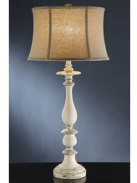 Crestview Collection Summerland White Oatmeal Table Lamp CRST-CVATP875