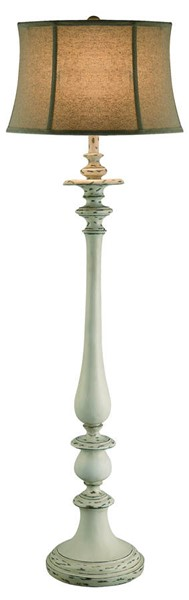 Crestview Collection Summerland White Oatmeal Floor Lamp CRST-CVATP876
