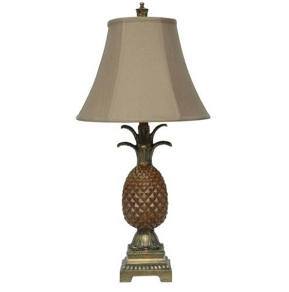 Crestview Collection Brown Gold Table Lamp CRST-CVATP987
