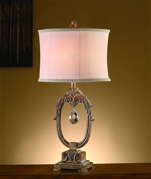 Crestview Collection Leda Ivory Table Lamp CRST-CVAUP106