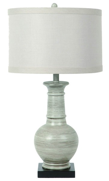 Crestview Collection Darby Gray White Table Lamp CRST-CVAUP129
