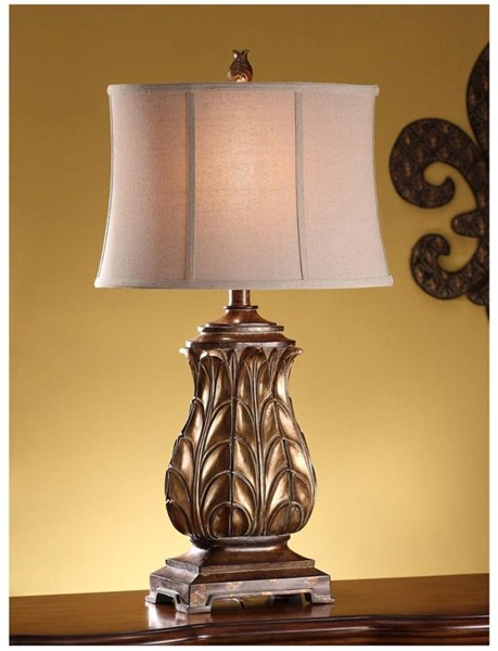 Crestview Collection Versailles Gold Table Lamp CRST-CVAUP254