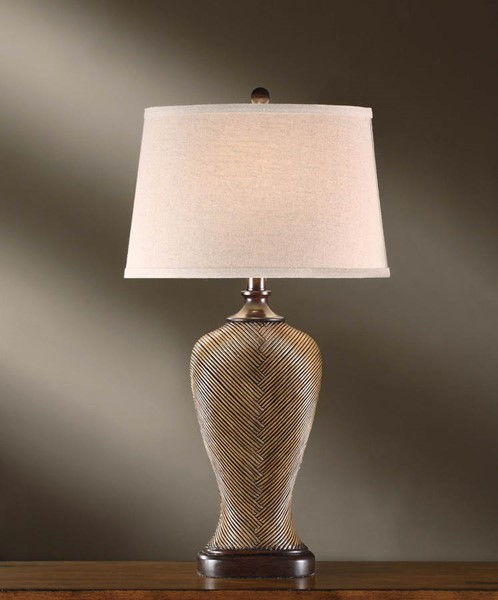 Crestview Collection Wheaton Fabric Table Lamp CRST-CVAUP387