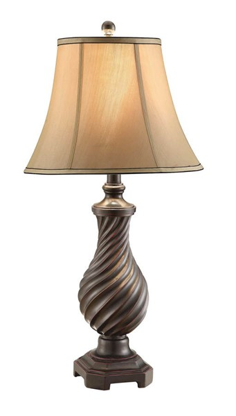 Crestview Collection Edgemont Beige Coffee Table Lamp CRST-CVAUP388