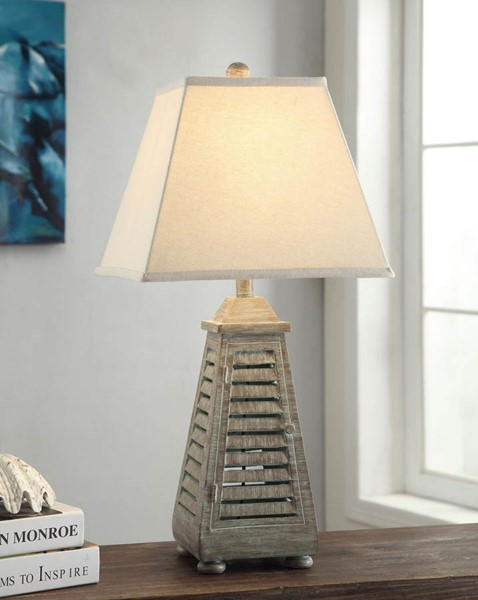 Crestview Collection Antique Grey Shutter Tower Table Lamp CRST-CVAUP541