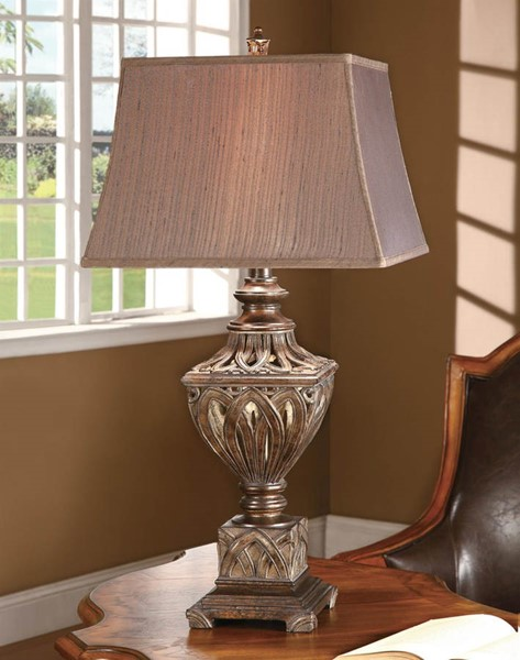 Crestview Collection Monticello Brown Bronze Table Lamp CRST-CVAUP559