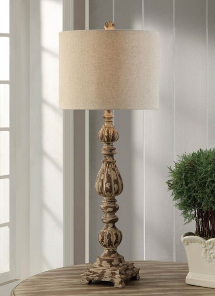 Crestview Collection Avian White Slender Table Lamp CRST-CVAUP699