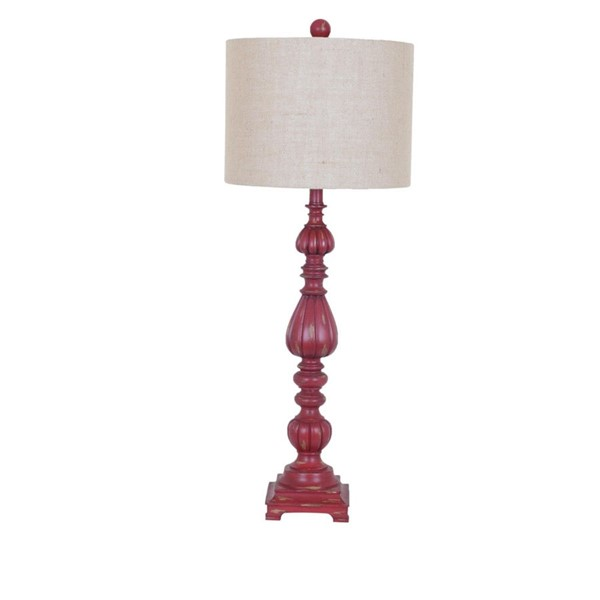 Crestview Collection Slender Avian Antique Red Table Lamp CRST-CVAUP699C