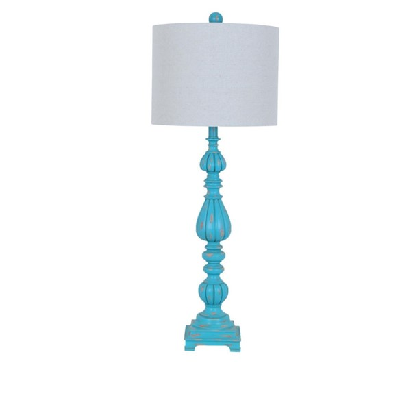 Crestview Collection Slender Avian Antique Blue Table Lamp CRST-CVAUP699D