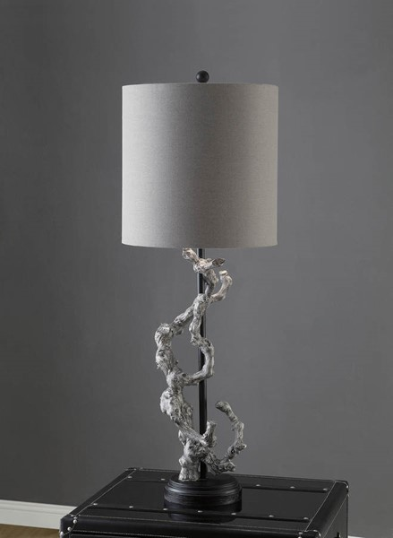Crestview Collection Charcoal Gray Twisted Branch Table Lamp CRST-CVAUP717