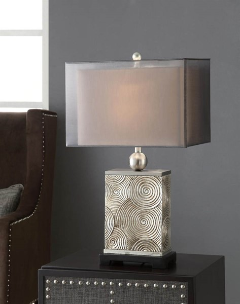 Crestview Collection Mancini Antique Silver Table Lamp CRST-CVAUP718