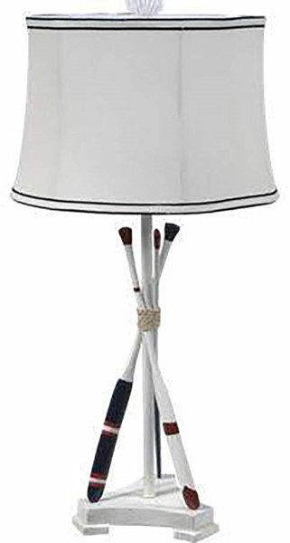 Crestview Collection Off White Naudical Oar Table Lamp CRST-CVAUP835