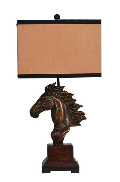Crestview Collection Gold Black Running Free Table Lamp CRST-CVAUP838