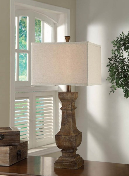 Crestview Collection Balustrade Distressed Table Lamp CRST-CVAUP853