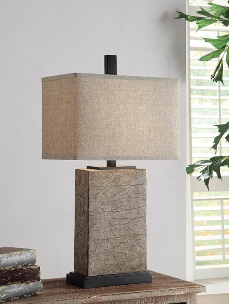 Crestview Collection Mason Oatmeal Gold Table Lamp CRST-CVAUP858