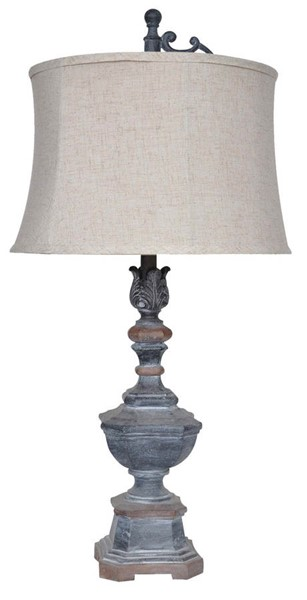 Crestview Collection Cream Weather Vane Table Lamp CRST-CVAUP864