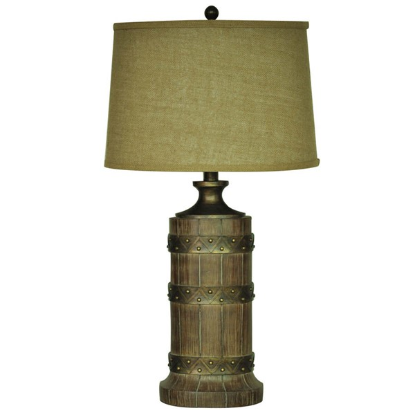 Crestview Collection Plankroad Burlap Table Lamp CRST-CVAUP887