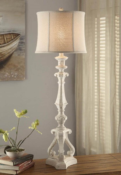 Crestview Collection Serenity Natural White Table Lamp CRST-CVAUP961